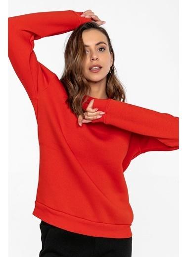 Tiffany&Tomato Ribanalı Sweatshırt Kırmızı